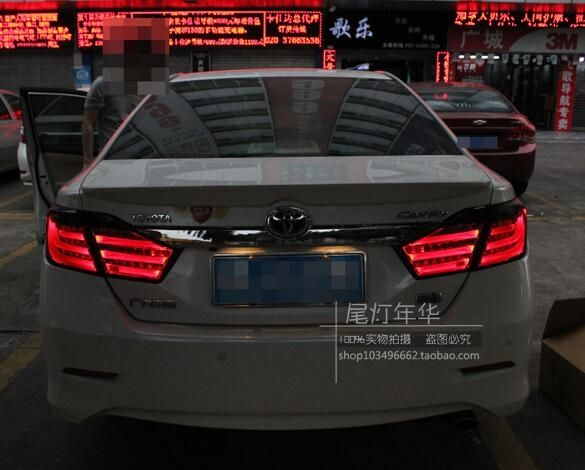 315.99$  Buy here - http://alik8d.worldwells.pw/go.php?t=32789061909 - Hireno Car Styling for Toyota Camry 2012 2013 2014 Tail Lights LED TailLight LED Rear Lamp +Brake+Park+Signal 315.99$
