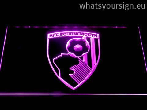 A.F.C. Bournemouth - LED neon sign made of the premium quality clear acrylic and intense colorful LED lighting. The neon sign displays exactly the same from every angle thanks to the carving with the newest 3D laser engraving technology. This LED neon sign is a great gift idea! The neon is provided with a metal chain for displaying. Available in 3 sizes in following colours: Yellow, Blue, Orange, Green, Red, White and Purple!