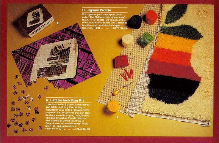 A make-your-own rug kit? See what else was in Apple's 1983 gift catalogue...