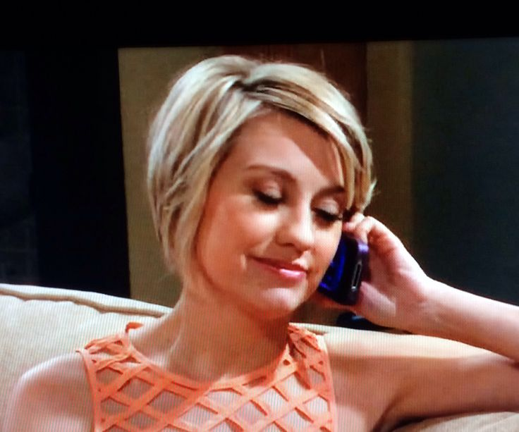 Chelsea Kane hair, untucked from behind ear. Baby daddy