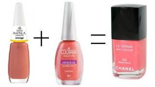 Misturinha para Chanel Orange Impala + Coral Chic Colorama = Miami Peach Chanel