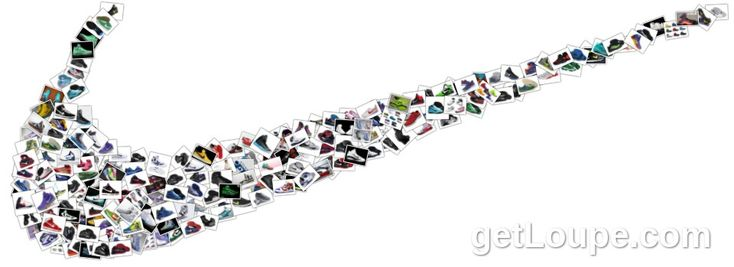 Unity: this represents unity but all of their Nike shoes combining together to create the Nike Swoosh logo