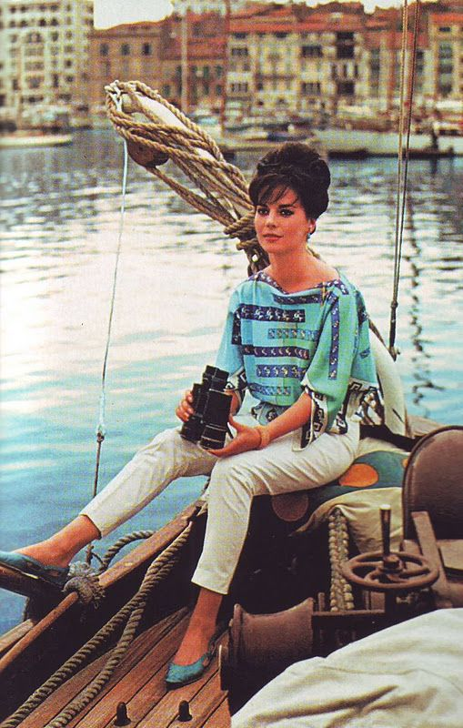 Natalie Wood. (Ironic image. She would drown from a fall from a boat.)