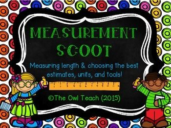 This Measurement SCOOT is the perfect review for students needing to measure and estimate the length of items in both Metric (centimeters and meters) and US Customary (inches, feet, and yards) units!  The set includes 20 questions requiring students to measure, estimate, choose the proper measurement tools, and draw lines of given measures!Includes:-20 SCOOT or Task Cards-a Student Recording Sheet-an answer sheet