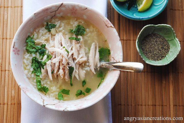 Chnor Chrook ~ Cambodian Lemongrass Chicken & Rice Soup...