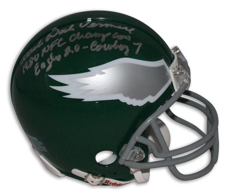 "Coach Dick Vermeil Philadelphia Eagles Autographed Mini Helmet Inscribed ""1980 NFC Champions Eagles 20 Cowboy 7"""