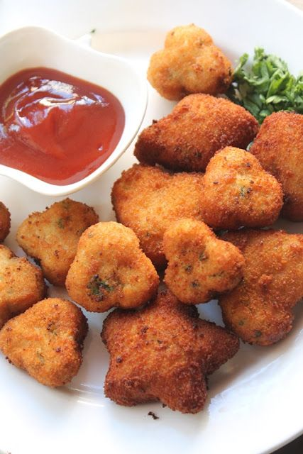 YUMMY TUMMY: Chicken Nuggets Recipe - Shaped Chicken Nuggets for Toddlers & Kids