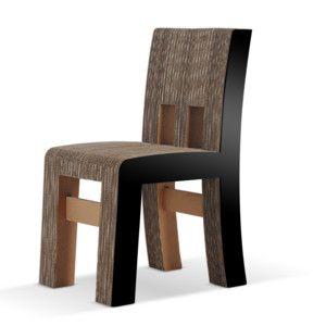 Kartonová židle Campagnola Black