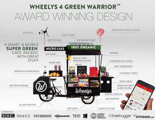 Worlds greenest CAFÉ the WHEELYS GREEN WARRIOR | Indiegogo