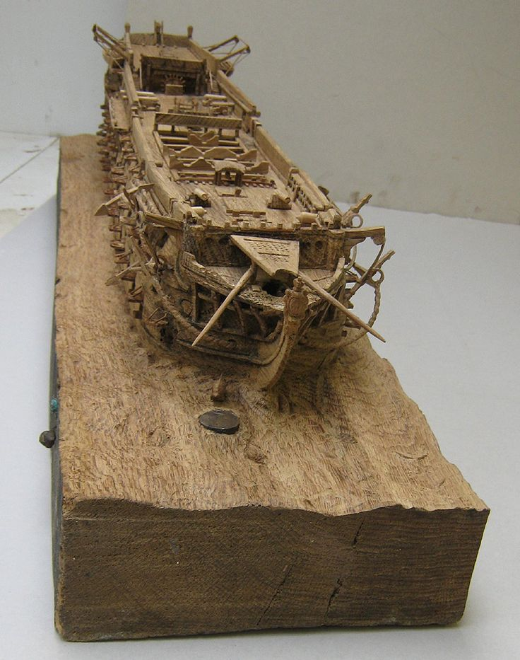 HMS Victory Sculpture Close Up