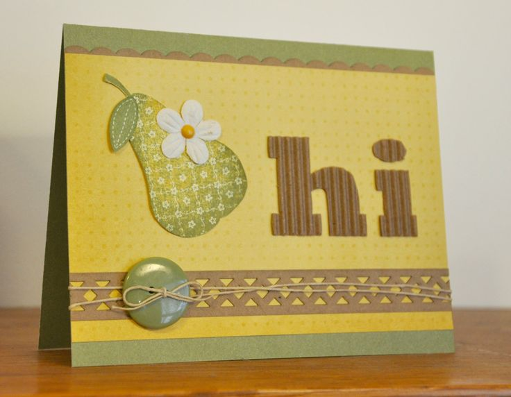 Pretty Pear Greeting Card by Leisascardshop on Etsy