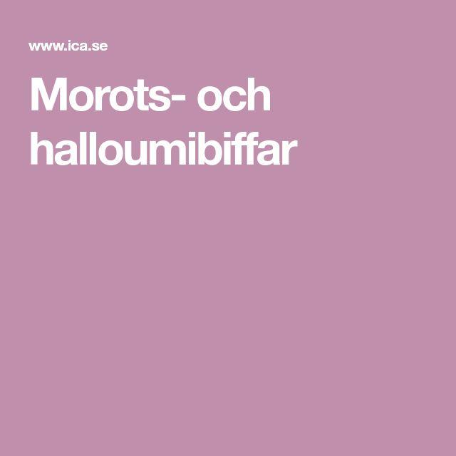 Morots- och halloumibiffar