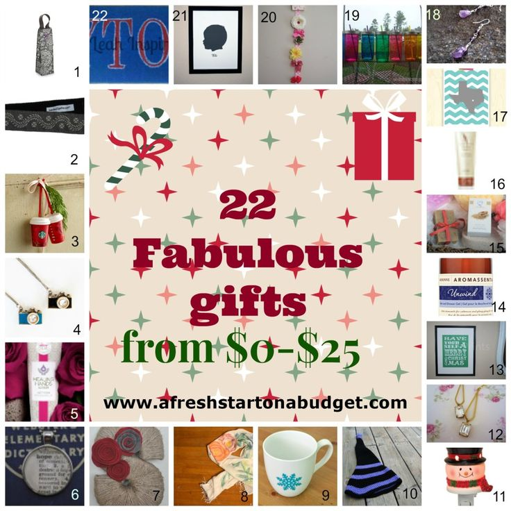 25 Gifts under $25 via @Karissa Scott Scott Scott @ A Fresh Start On A Budget