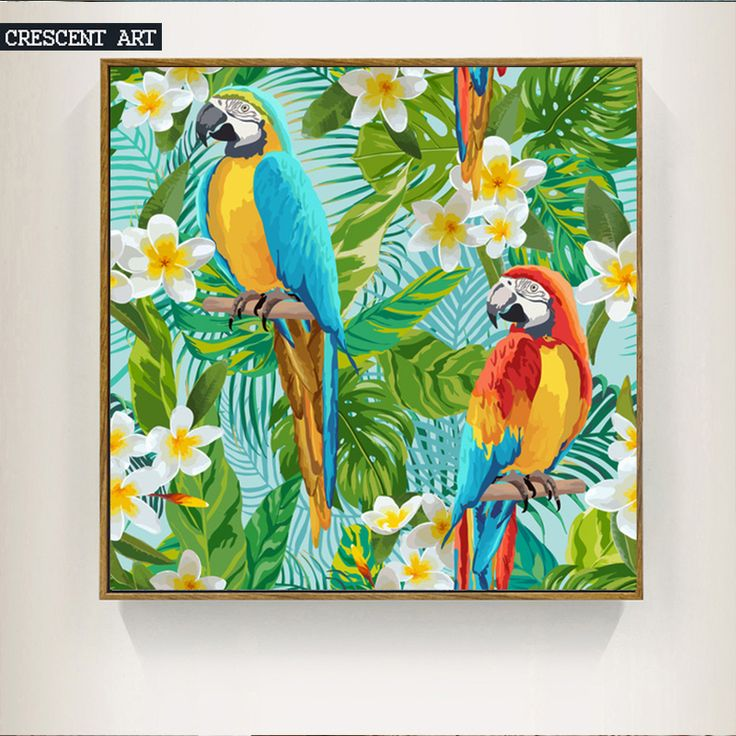 Colorful Birds Picture Cool Street Graffiti Style Wall Art Poster Canvas Print  For Livingroom Decoration-in Painting & Calligraphy from Home & Garden on Aliexpress.com | Alibaba Group
