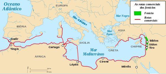 A Civilização Fenícia foi uma civilização da Antiguidade cujo epicentro se localizava no norte da antiga Canaã, ao longo das regiões litorâneas dos atuais Líbano, Síria e norte de Israel. A civilização fenícia foi uma cultura comercial marítima empreendedora que se espalhou por todo o mar Mediterrâneo durante o período que foi de 1500 a.C. a 300 a.C. Os fenícios realizavam comércio através da galé, um veículo movido a velas e remos, e são creditados como os inventores dos birremes.[1]