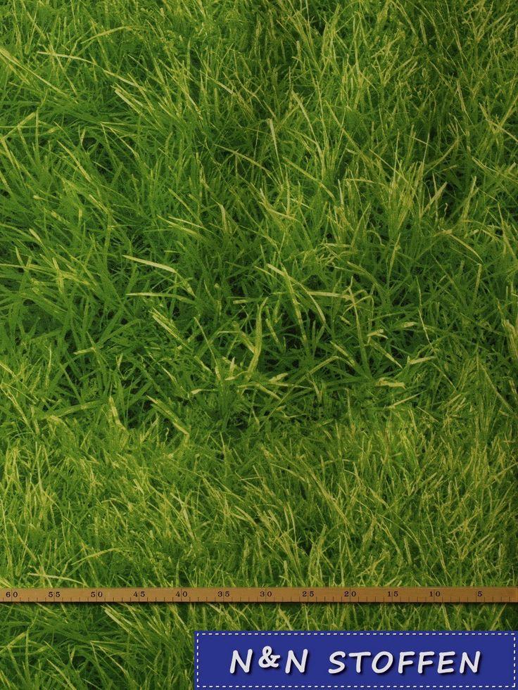 Bedrukte stof Gras stof # 1 - N & N Stoffen