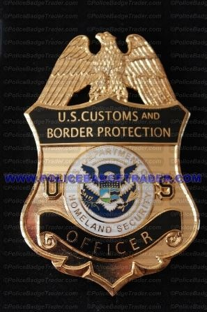 cbp officer badge with colored centre seal rare available from wwwpolicebadgetrader cbp officer job description