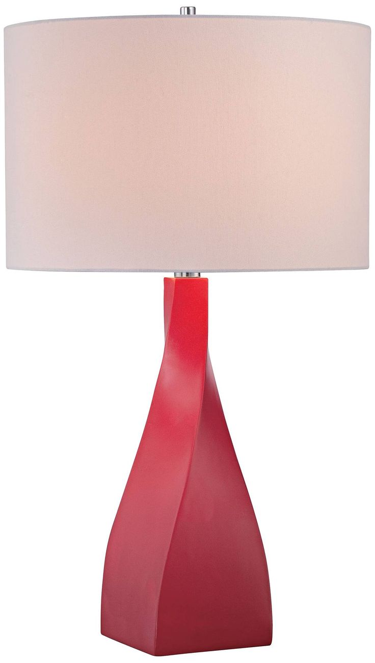 the  best red table lamp ideas on pinterest  contemporary home  - george kovacs hansen red table lamp  k  lamps plus