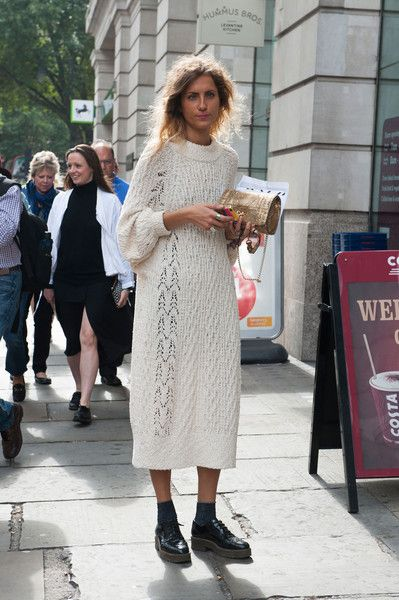 knit dress. London.