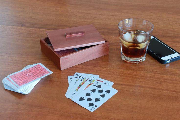 Buy Tamar Tasmanian Myrtle 2 Deck Card Box Online | Australian Woodwork