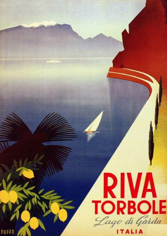 Slap! Affiche vintage - Riva Torbole by Mario Puppo