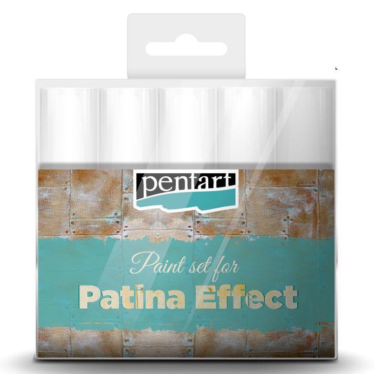 Pentart Patina hatás festék szett 5x20ml