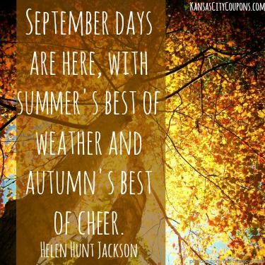 #KansasCityCoupons #KansasCity #September #quote #quotes #fall #autumn  #summer