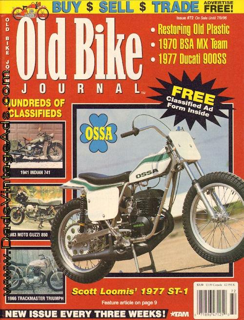 Scott Loomis' 1977 Ossa 250 ST-1 short-tracker restored to new condition