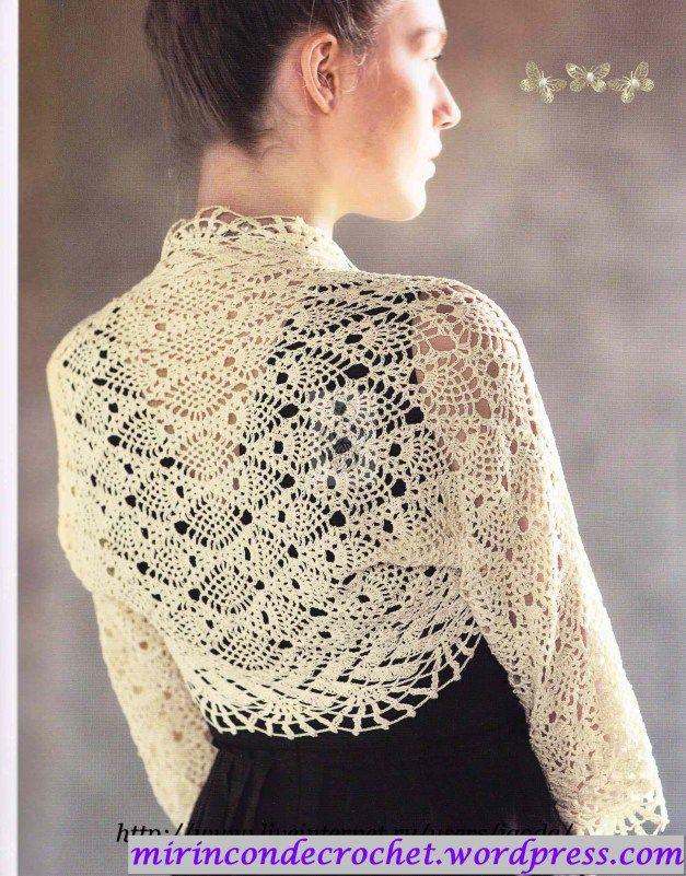 Me siguen enamorando las piñas…y esta bolero es sublime | Mi Rincon de Crochet
