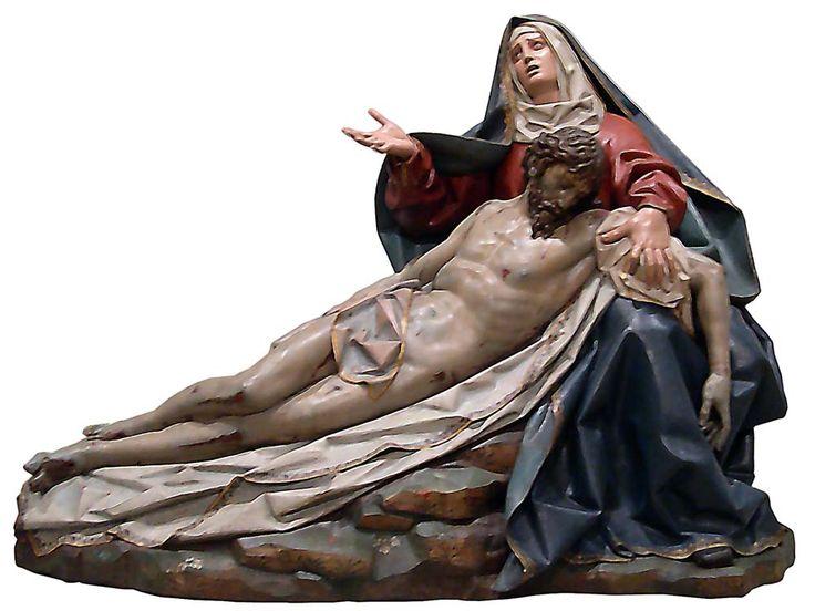 """""""Piedad"""" de Gregorio Fernández, Museo Nacional Colegio de San Gregorio, Valladolid."""