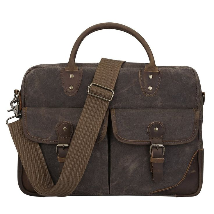 High-end, durable canvas military messenger bag for men and women with magnetic quick snap buckles. Get your own at discounted price from Serbags!