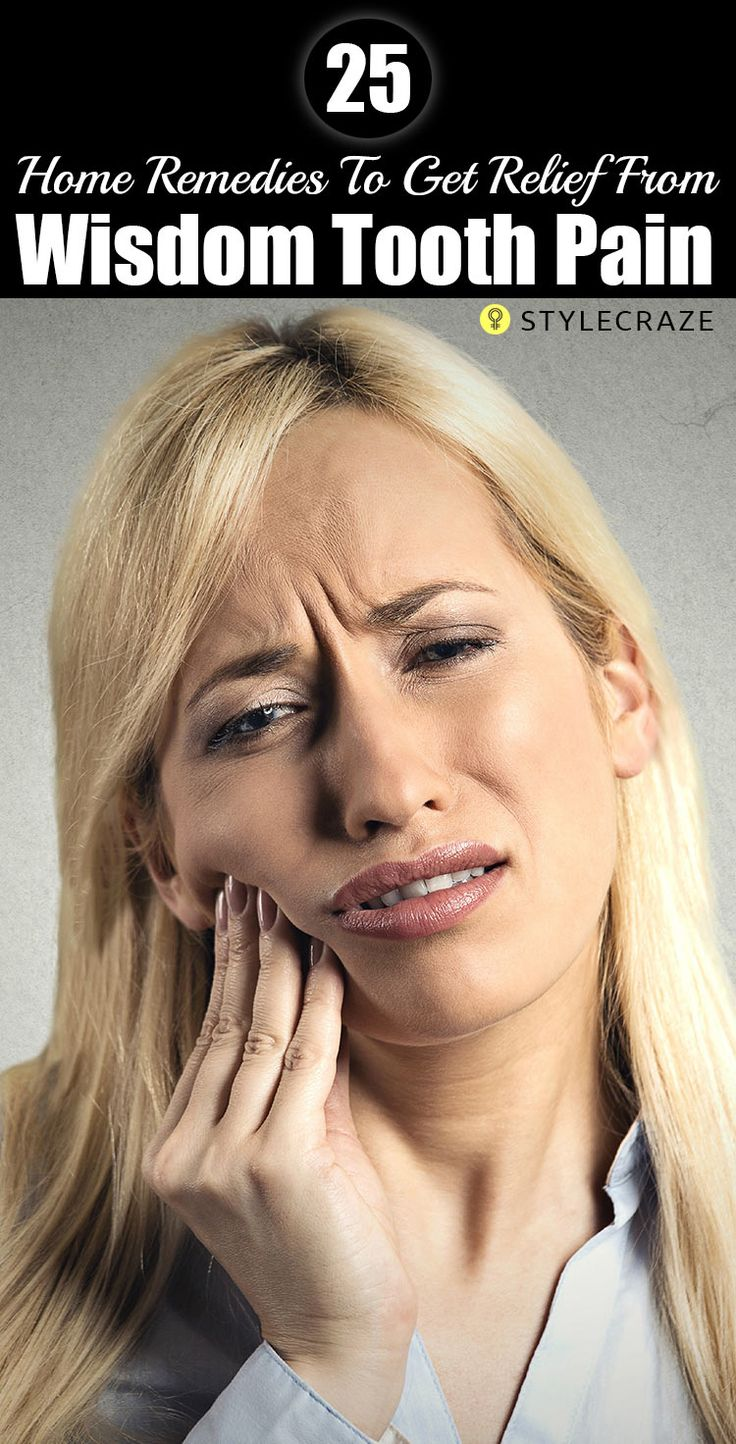 the pain of removing wisdom teeth Others get theirs removed only after the painful eruption of the wisdom teeth has  begun for years, people got their teeth removed without.