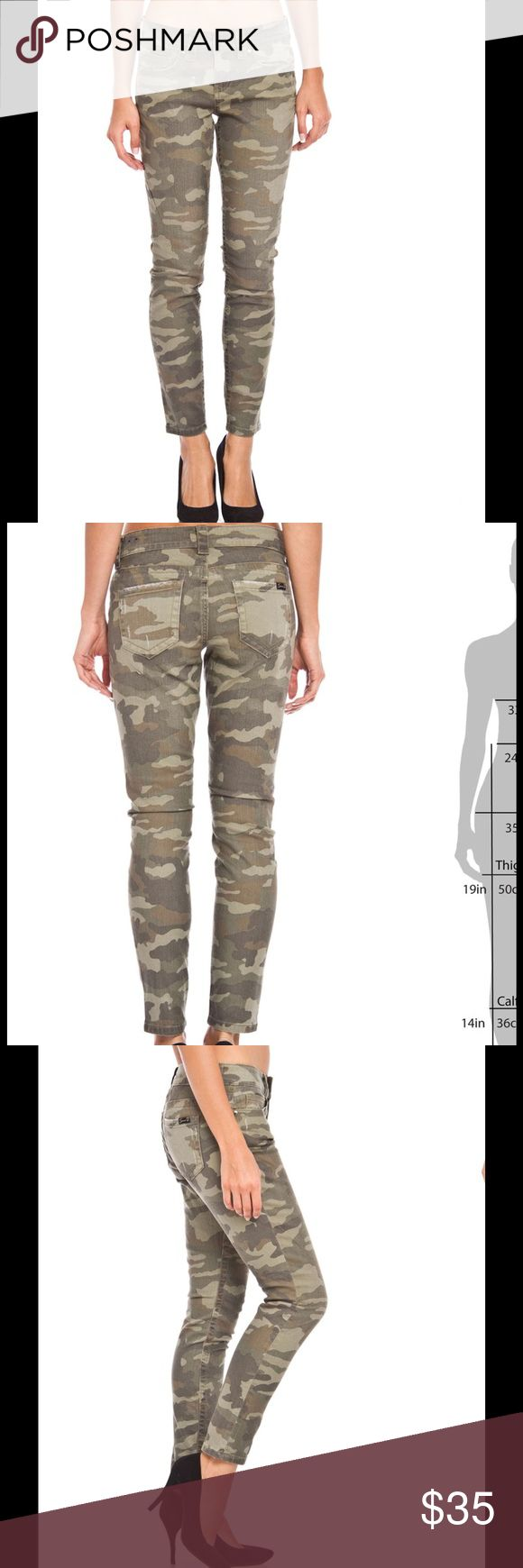 "Seven7 Camouflage skinny jeans 98% cotton 2% spandex these skinny jeans are shades of green and brown 28"" inseam 5 pockets Seven7 Jeans Skinny"