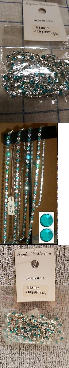 Body Chains 98526: 42 Single Row Teal Marine Blue Rhinestone Cake Banding Belly Body Chain Jewelry -> BUY IT NOW ONLY: $34 on eBay!
