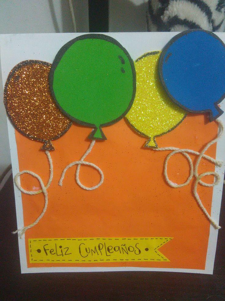 Tarjeta Feliz cumpleaños globos