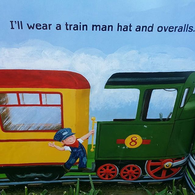 My little man loves this cute book about a boy who wants to be a train driver when he grows up. Train Man is written by #AndreaZimmerman and beautifully illustrated by #DavidClemesha. #bookskidslove #picturebook #trains #whenigrowup #childrensbook #boybook