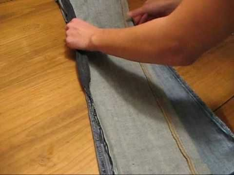 How to make old pants into a skinny pant