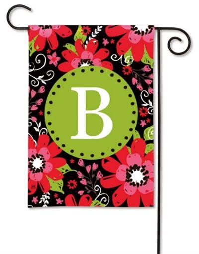 Bright Floral Monogram B Garden Flag, FREE Shipping!