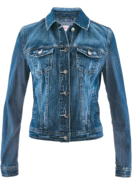 Veste courte en jean - designed by Maite Kelly, bpc bonprix collection, bleu stone used