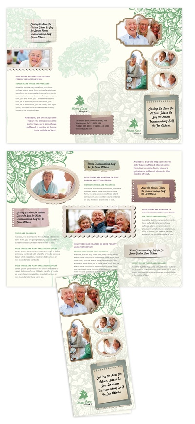 Home care tri fold brochure template will be a good choice for Home care brochure template