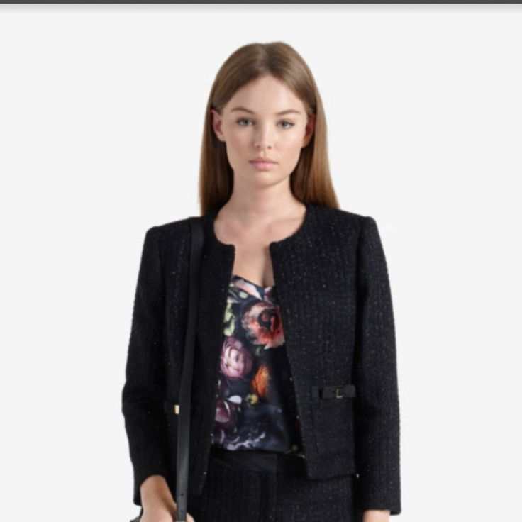TO BUY: Ted Baker - Fari Bow Detail Suit Jacket £299