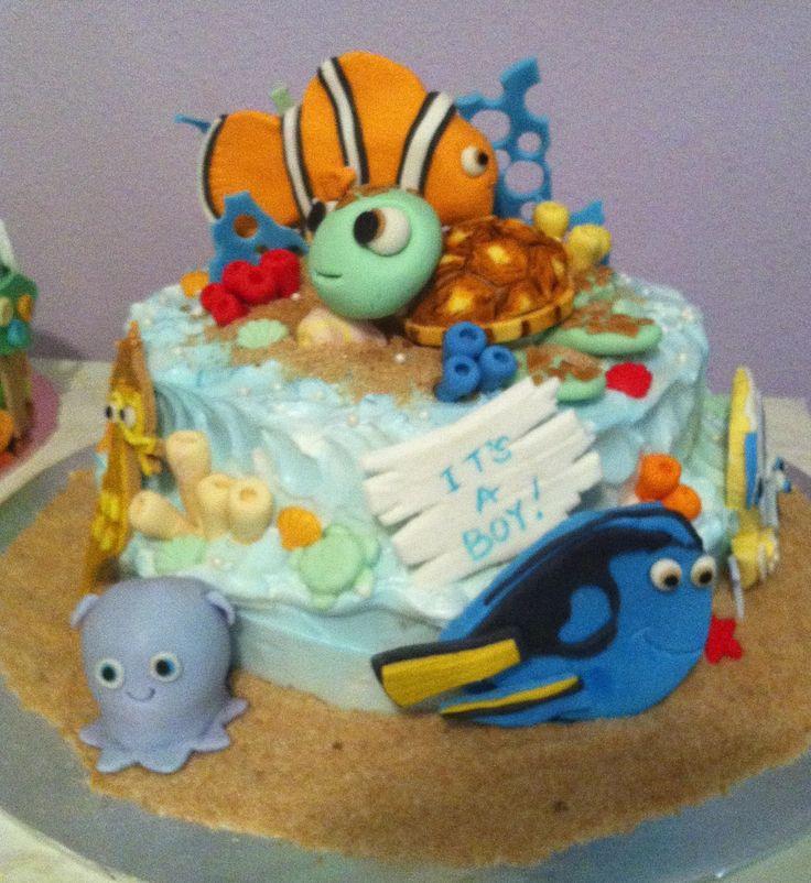 finding nemo baby shower cake cakes pinterest