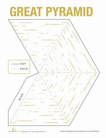 Worksheets: Egyptian Pyramid Model