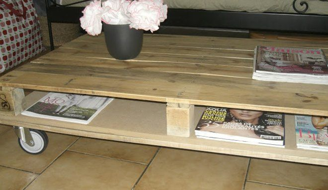tuto fabriquer une table basse en palettes m6 home salon salle manger table basse. Black Bedroom Furniture Sets. Home Design Ideas