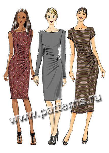 Выкройка Vogue — Платье с драпировкой - V8946 | Платья