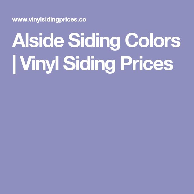 Alside Siding Colors | Vinyl Siding Prices