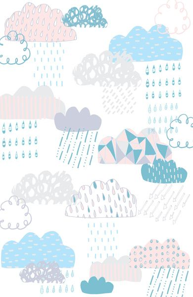 Clouds Art Print by Claire Brown Surface Pattern | Society6