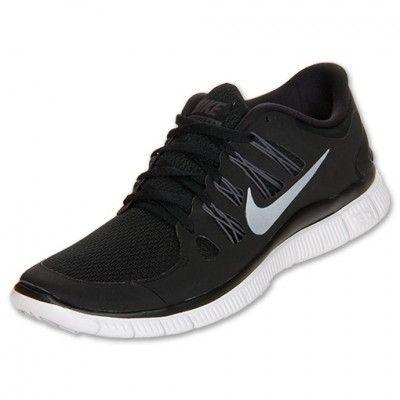 T�nis Nike Free Women\u0027s 5.0 Running Shoes Black Dark Grey White Metallic  Silver #Tenis #