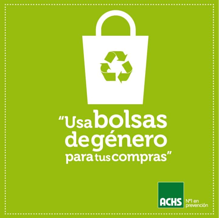 Usa bolsas de género #masprevencion #medioambiente