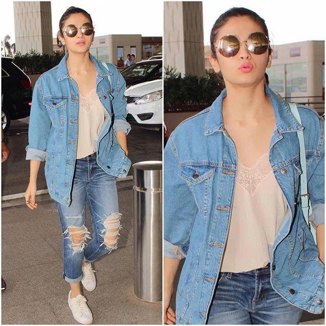 Alia Bhatt's Airport Style  FAB or DRAB?  #bollywood #style #fashion #beauty #bollywoodstyle #bollywoodfashion #indianfashion #celebstyle #aliabhatt